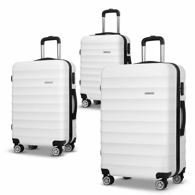 "3PCS Luggage Suitcase Trolley Set Travel Carry On Bag Hard Case 20"" 24"" 28"" #AB"