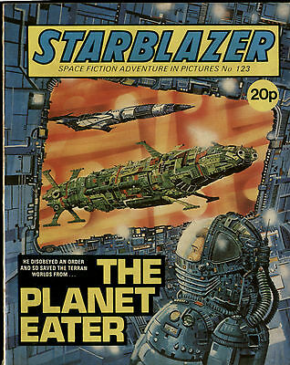 The Planet Eater,starblazer Space Fiction Adventure In Pictures,no.123,1984