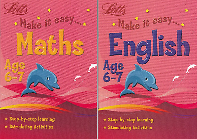 Letts Maths & English Age 6-7 Key Stage 1 Activity Learning Books - 2 Book Set