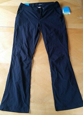 NWT COLUMBIA Women's BLACK ANYTIME OUTDOOR BOOT CUT PANTS, HTF Omni-Shield SZ 10
