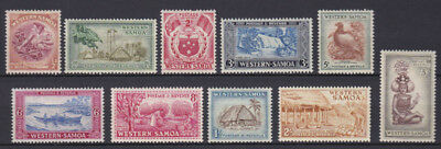 1952 Western Samoa mounted mint set of stamps x 10 SG 219-228 Cat. £14.50