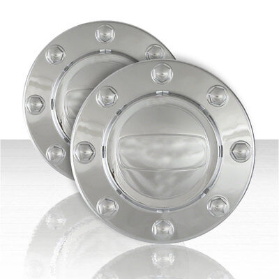 Set of 2 Front Chrome ABS Center Caps for 2014-2016 Dodge RAM 3500