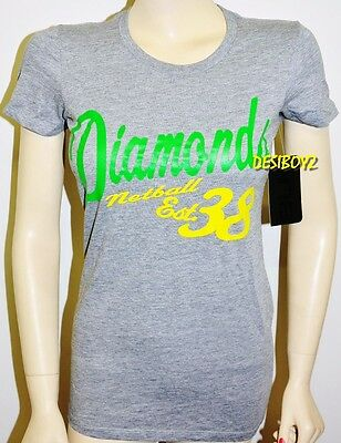 BNWT - Australia Netball Diamonds T-Shirt Ladies Tee - Size: 10