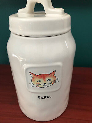 Rae Dunn Artisan Collection Meow - Cat Lover Canister Treat Jar
