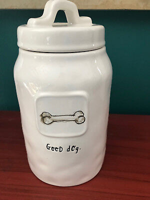 Rae Dunn Artisan Collection Bone - Good Dog Canister Treat Jar