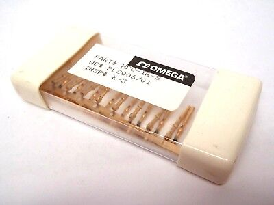 Lot of 19 Omega HPC-IR-S Thermocouple Contacts Push-in Crimp-Style