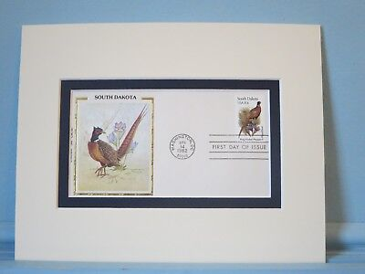 State Bird & Flower of South Dakota - Pheasant & Pasque Flower & First Day Cover