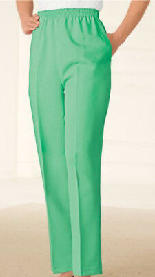 b7d0cd00bdc ALFRED DUNNER PALM Green Pull On Pants 16W 16 Woman NEW FreeShip ...
