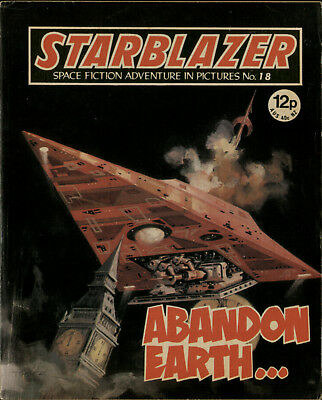 Abandon Earth,starblazer Space Fiction Adventure In Pictures,no.18,1980