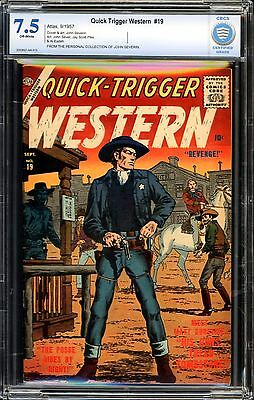 Quick-Trigger Western #19 CBCS 7.5 JOHN SEVERIN COLLECTION!!!