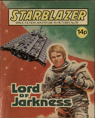 Lord Of Jarkness,starblazer Space Fiction Adventure In Pictures,no.35,1980