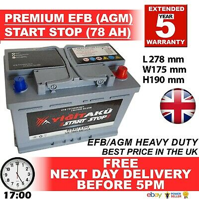 BMW 096 100 START STOP AGM 72AH Heavy Duty 12V Car Battery More power AGM / EFB