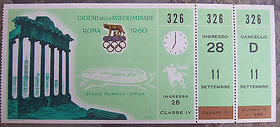 Olympic Games Ticket Roma/rome 1960-Ippica-Equestrian-Reiten-Equestres-Rare