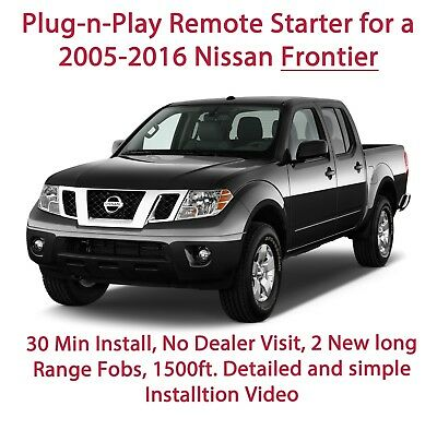 DIY Remote Starter for 2005-2016 Nissan Frontier. Plug-n-Play 30 min install.