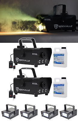 (2) Rockville R720L LED Fog/Smoke Machine+(4) MINI STROBE LED (replaces CH-730)