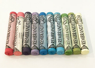 Rembrandt Soft Pastels 10 Mixed Colours And Shades. Full Sticks. Lot 21. Bargain
