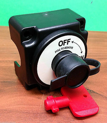 #MARINE BOAT MINI BATTERY SWITCH WITH REMOVABLE KEY POM KEY 2P ON OFF