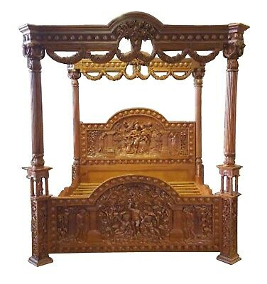 Brand New Super-King Size Handmade Four Poster Solid Mahogany Bed