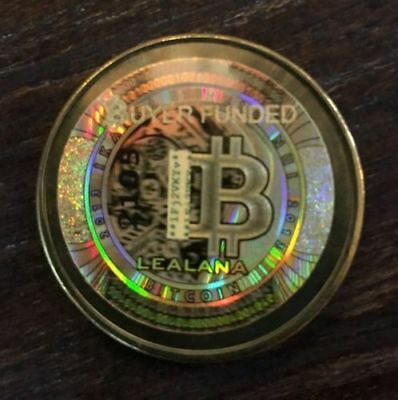 Unfunded/No digital bitcoin-LEALANA 2013 .10 ser 2 Rare brass-CASASCIUS was orig