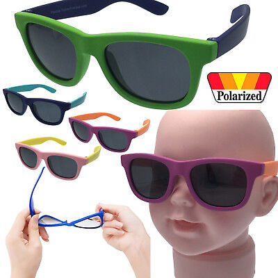 Rubber Flexible Polarized Sunglasses Plastic Boys - Baby Children Child Age 0-2+
