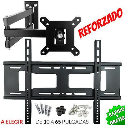 Soporte Tv Pared Lcd Led Plasma 22 26 28 32 39 40 43 42 47 48 65 Giratorio Brazo