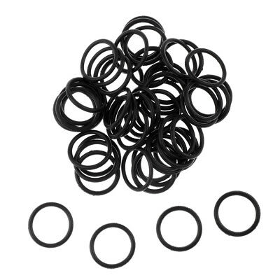 50x Silicone Soft O Rings for Worms Wacky Rig O-Ring Tool Carp Fishing Black