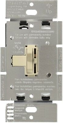 Lutron AYLV-600P-IV 600-Watt Toggle Single-Pole Dimmer IVORY Ariadni