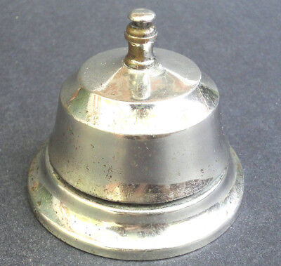 Shop Counter Bell Push Tap Hotel Reception Nickel Plated Vintage Traditional