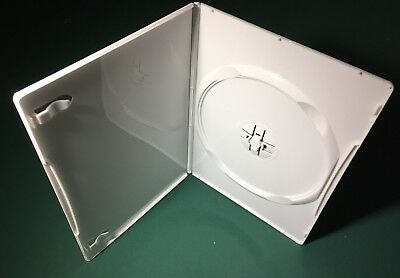 5 Slim 7Mm Single Dvd Cases, White