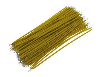 【10CM】 30AWG Standard Jumper Wire Pre-cut Pre-soldered - Yellow - Pack of 100