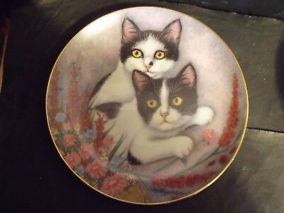 BONNIE & BETSY CAT PLATES by ROBERT GUZMAN FORBES of PURRFECT PAIRS SERIES