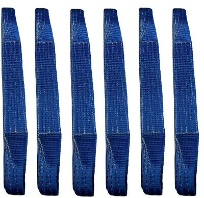 6 x Load Restraint Strap for Car Carrying With Loops, Wheel Strap, Towing Tow