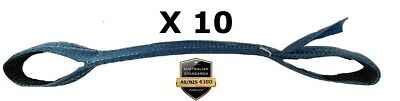 10 x Load Restraint Strap for Car Carrying With Loops, Wheel Strap, Towing Tow