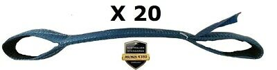 20 x Load Restraint Strap for Car Carrying With Loops, Wheel Strap, Towing Tow