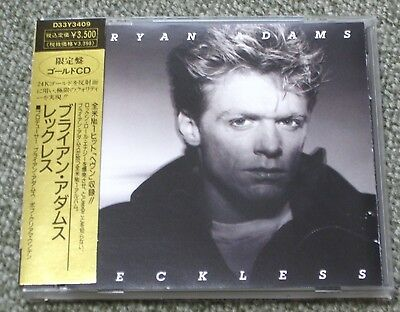 BRYAN ADAMS Japan limited edition GOLD CD with obi 1989 official AUDIOPHILE rare