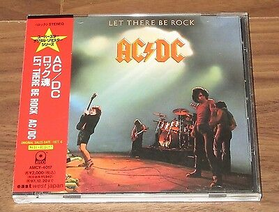 Rare PROMO issue! AC/DC Japan CD obi - MORE AC/DC LISTED - Let There Be Rock