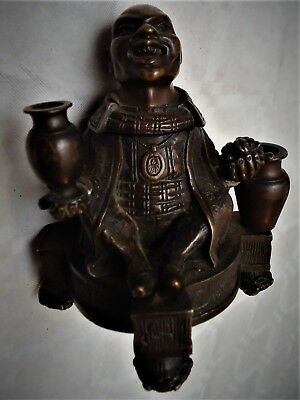 Encrier / Inkwell en bronze XIXe. Chinois / Chinese.