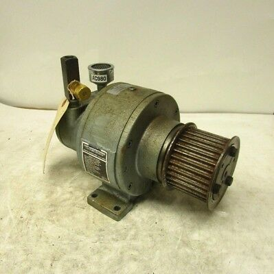 "Gast 4Am-Rv-75-Gr20 Pneumatic Air Gearmotor 1.26Hp 10:1 300Rpm 57.5Cfm 1/4""npt"