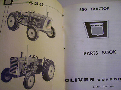 Vintage  Oliver Corp Parts Manual- # 550 Series Tractors - Ag & Ind - 1961