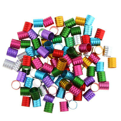 Colorful Pack of 100 Stylish Hair Decoration Beads Dreadlocks Bead Cuff Clip