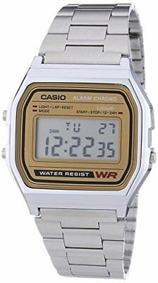 Casio Unisex Collection Digital Watch with Stainless Steel Bracelet A158WEA-9EF