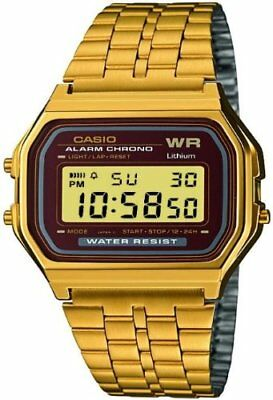 Casio Men's Digital Watch with Stainless Steel Bracelet A159WGEA-5EF