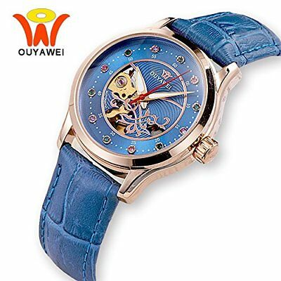 Luxury Automatic Mechanical Casual Wrist watches Ladies Gold Case Watches Rhines