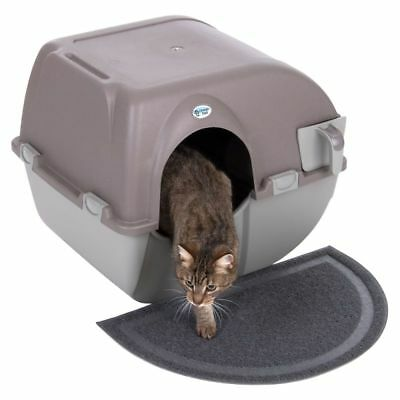 Large Self Cleaning Cat Litter Box Tray Kitten Kitty Omega Paw Roll N Clean