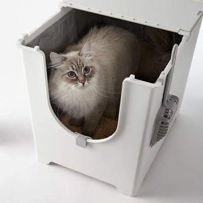 Modko Flip Top Lid Cat Litter Tray Covered Hooded With Scoop Box Toilet Loo NEW