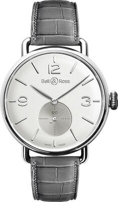 BELL & ROSS WW1 Argentium Opalin Gents Watch BRWW1-ME-AG-OP/SCR RRP £3700 NEW
