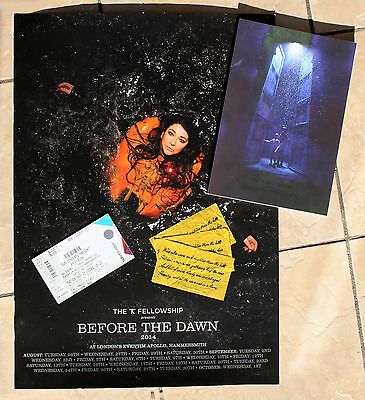 Kate Bush Before The Dawn - Programme, Ticket, Poster, 3 Pieces Of Confetti