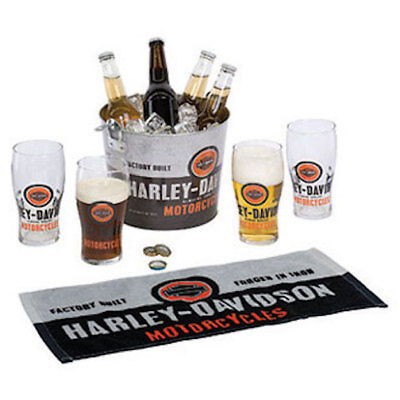 HARLEY DAVIDSON Forged In Iron Party Bucket Set + H-D WRENCH BOTTLE OPENER L@@K
