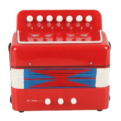 Kids Accordion Enlightenment instruments Red W9I5