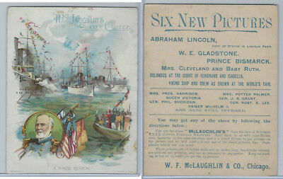 K58 McLaughlin Coffee, Military, Naval, Political Events, 1893, Naval Review